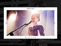 Music band website