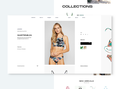 SS_131204_Swim Suits minimal clean fashion product page swimwear swimsuit ecommerce ux landing page ui