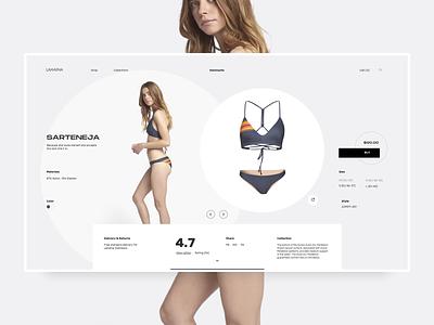 Swim 1216 swimsuit minimal clean ecommerce web design fashion landing page ux ui