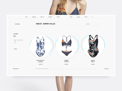 LH 1064 05 - Swimsuits - Catalog swimsuit clean ecommerce product page web design minimal ui ux landing page