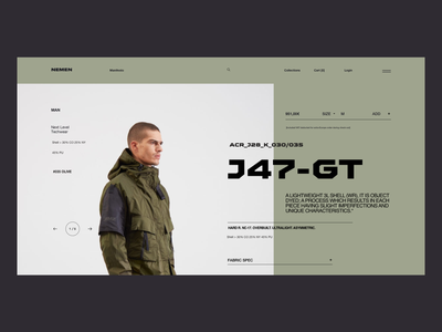 NN 1334 07 - Teach Wear outdoor military minimal typography teach wear fashion ecommerce clean landing page ux ui