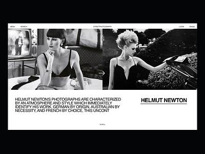 Helmut-Newton #2 photography portfolio fashion design helmut newton newton web web design fashion clean minimal ui