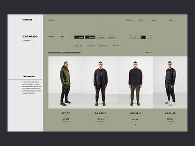 NN 1937 07 - Catalog - Teach Wear outdoor web ecommerce design ecommerce shop military tech wear fashion ecommerce ui ux minimal
