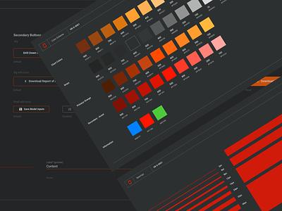 Design System for fin-tech #1 finance app finance fintech uidesign stye guides style guide dark ui atomic design components ui designer uiux ui design ui design system