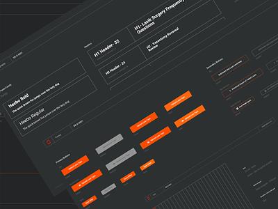 Design System for fin-tech  #2 ui designer uiux ui design ui dark mode style guides style guide dark ui components atomic design