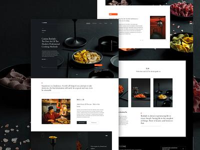 Cushido - Restaurant Web Concept web designer ui design uiux uxuidesign restaurants restaurant web web design clean design ui ux landing page minimal