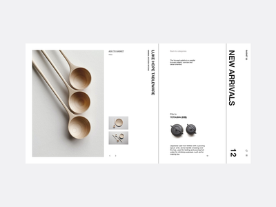 Tableware -1050 - Product uiinspirations bowls forks product design web userinterface landing page product page swiss design tableware web design ui ux minimal