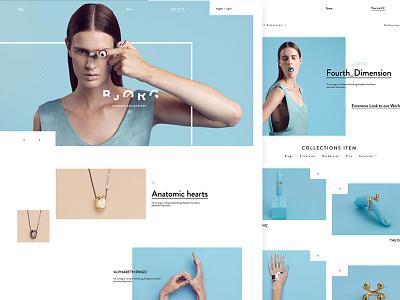 Bjorg Jewellery minimal web design ui