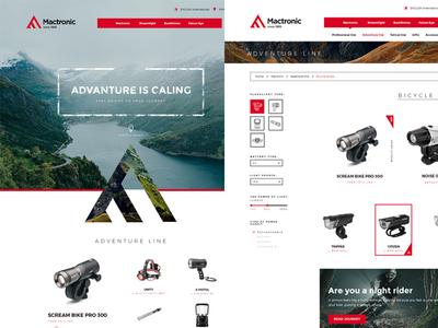 Mactronic web design outdoor ui minimal