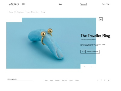 Traveller blue jewellery product page