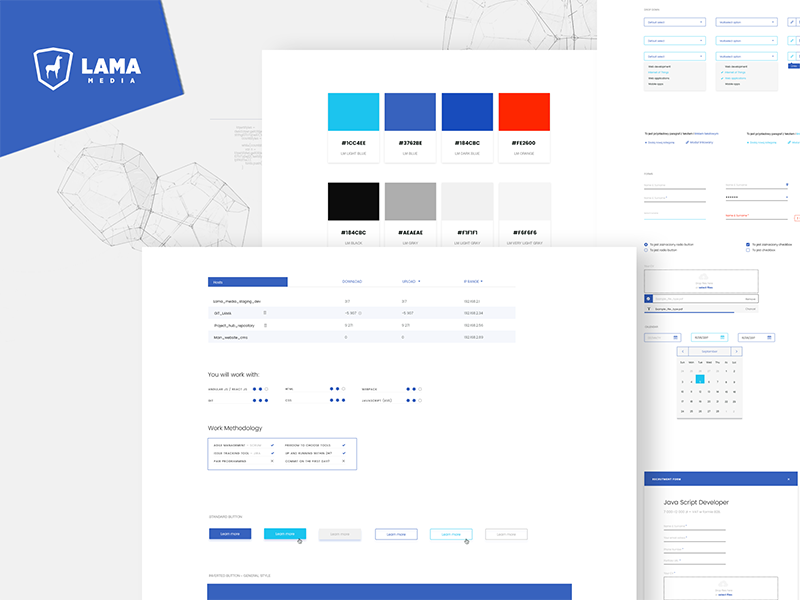 Lama Design System ui minimal blue design system