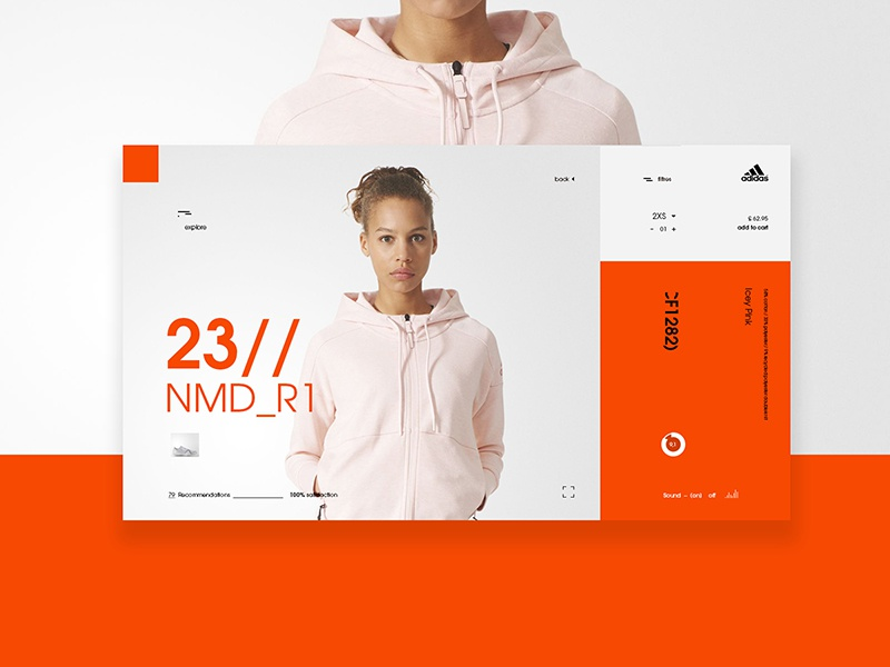 NMD_R1 product page orange minimal sport