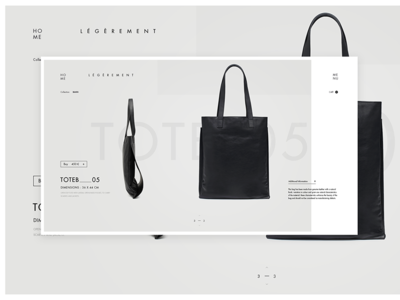 Tote_2 product page tote ladning page minimal fashion