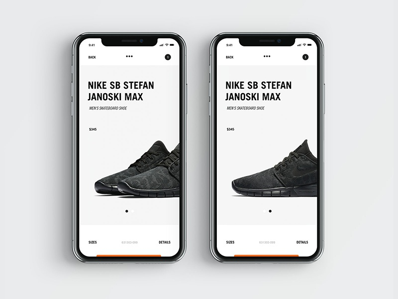 SB_631 minimal ecommerce mobile iphone x