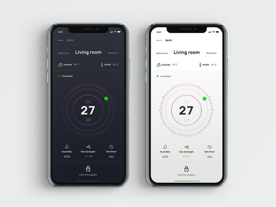 Smart Home thermostat app smart home ui