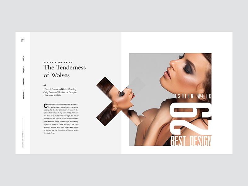 Fasion Article ux ui web woman fashion article minimal
