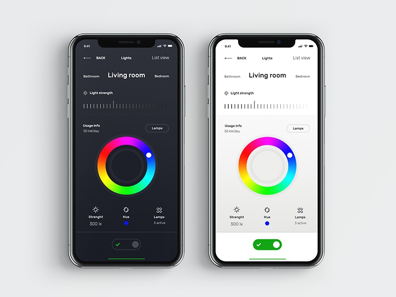 Smart Home - Lights lights app smart home ui