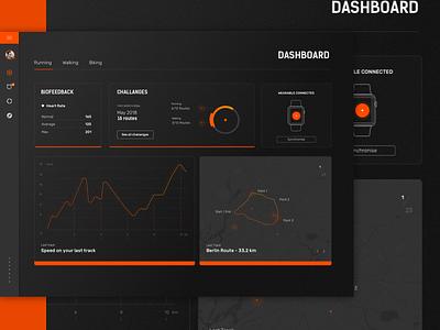 Fitness Dashboard - Dark UI dark ui minimal clean fitness dashboard ui