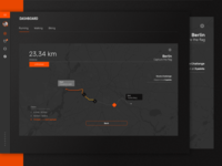 Fintess Dasboard - Track - Dark UI