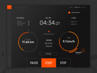 Fitness Dark UI - Treadmill