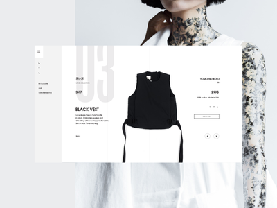 SS17_2 Product ux ui fashion product page clean web design ecommerce landing page minimal