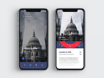 Visit Britain Guide ux ux  ui travel guide london guide app app app concept ios travel app