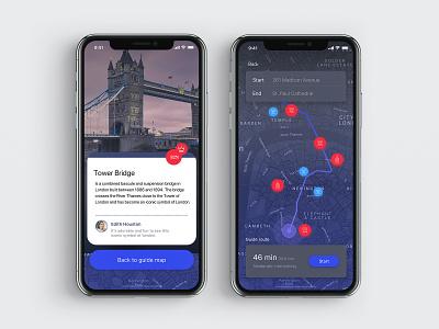 Visit Britan Maps application design app london uk travel app ios app concept