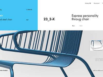 BLU_34_23 product page clean furniture furniture store ui ux design ecommerce minimal
