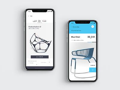DD_234_23 app concept furniture store furniture app ecommerce design ui ux mobile ios