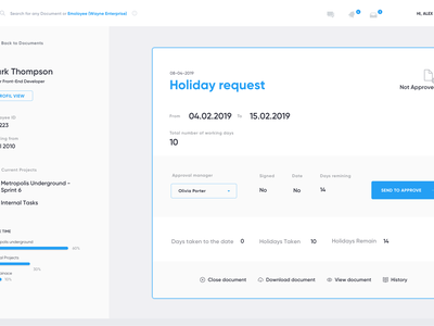 HR Request clean app design application ui uiux web design dashboard design dashboard ui app ux ui