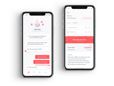 DR_1_3105 donor userinterface ios clean application ui application design chatbot dkms product design app ux ui