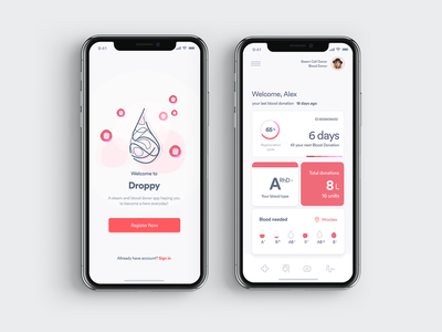 DR_3_0306 app design clean dashboard donor dkms userinterface product design application app minimal ux ui