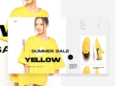 SU_17_22 fitness yellow product page fashion ecommerce ui ux minimal