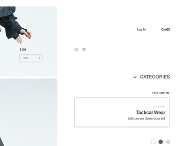 DD_1451_TECH product page design clean fashion ecommerce landing page ui ux minimal