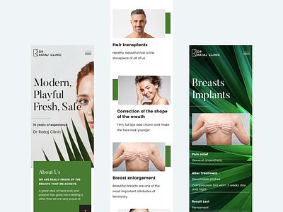 Dr Rataj Clinic - responsive webdesign leaf green design web mobile design responsive beauty clinic plastic surgery clean landing page ux ui