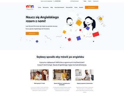 EN_1231_2601 colorful english langauge school illustration clean web designer web design language school english school landing page ui ux