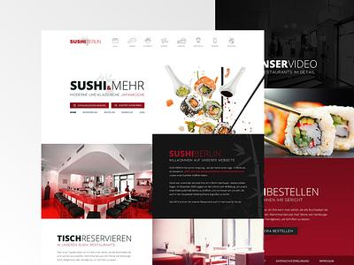 Website Design For A Berlin Sushi Restaurant ui restaurant product design japan asia website webdesign food eastern sushi