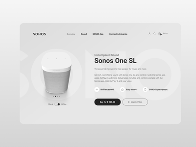 SONOS Web UI/UX Redesign - Light Mode web design ui sound tech sonos product design light mode audio app