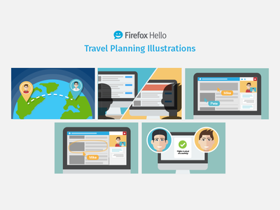 Firefox Hello Illustrations