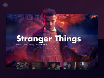 Smart TV Concept hbo netflix eleven tv app tv show smart home movie interaction ui ux cinema animation app design strangerthings stranger things series tv series tv smart
