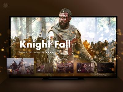 Smart TV Concept movie interaction knight smart home ux ui tv app tv show tv series smart series hbo netflix knight fall design cinema app tv