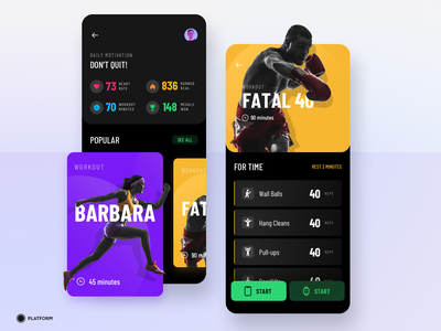 Fitness App cards icon sport excercise uiux iphone x iwatch apple mobile application watch workout gym crossfit fitness card ux ui design app