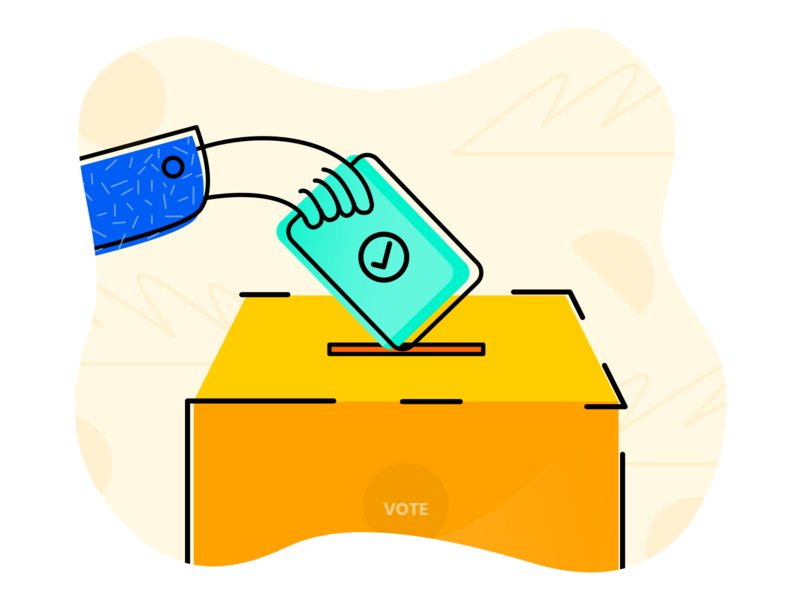 Cast your Vote illustration selection mallow tech right to vote india election 2019 election day poll vote