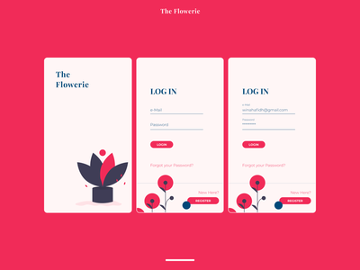 The Flowerie Login ui