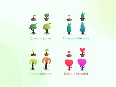 Trees Illustration icon ux ui vector illustration logo app concept branding design