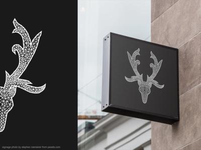 Stag Logo/Illustration for Signage