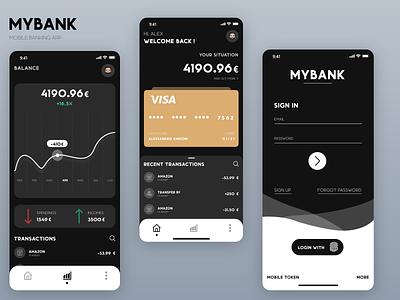 My Bank App ux graphic design website animation minimal icon design branding art app