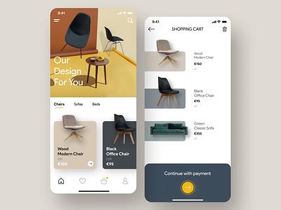 Chair decoration furniture app furniture chair ui uidesign graphic design design ux minimal art app