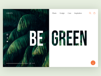 Begreen green ui uidesign graphic design design ux minimal art app