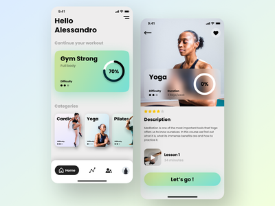 Fitness App fitness training uidesigns uxdesign trainers ui uidesign graphic design design ux minimal art app